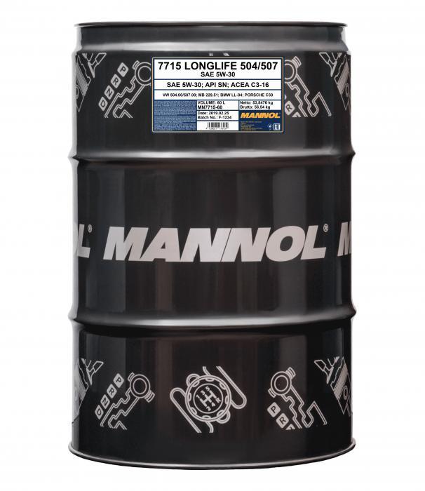 60 liter mannol 5w 30 7715 o e m 168 53. Black Bedroom Furniture Sets. Home Design Ideas